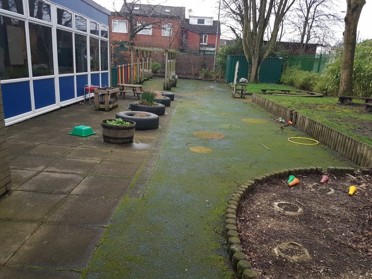 Wet Pour Cleaning Nottingham, Before